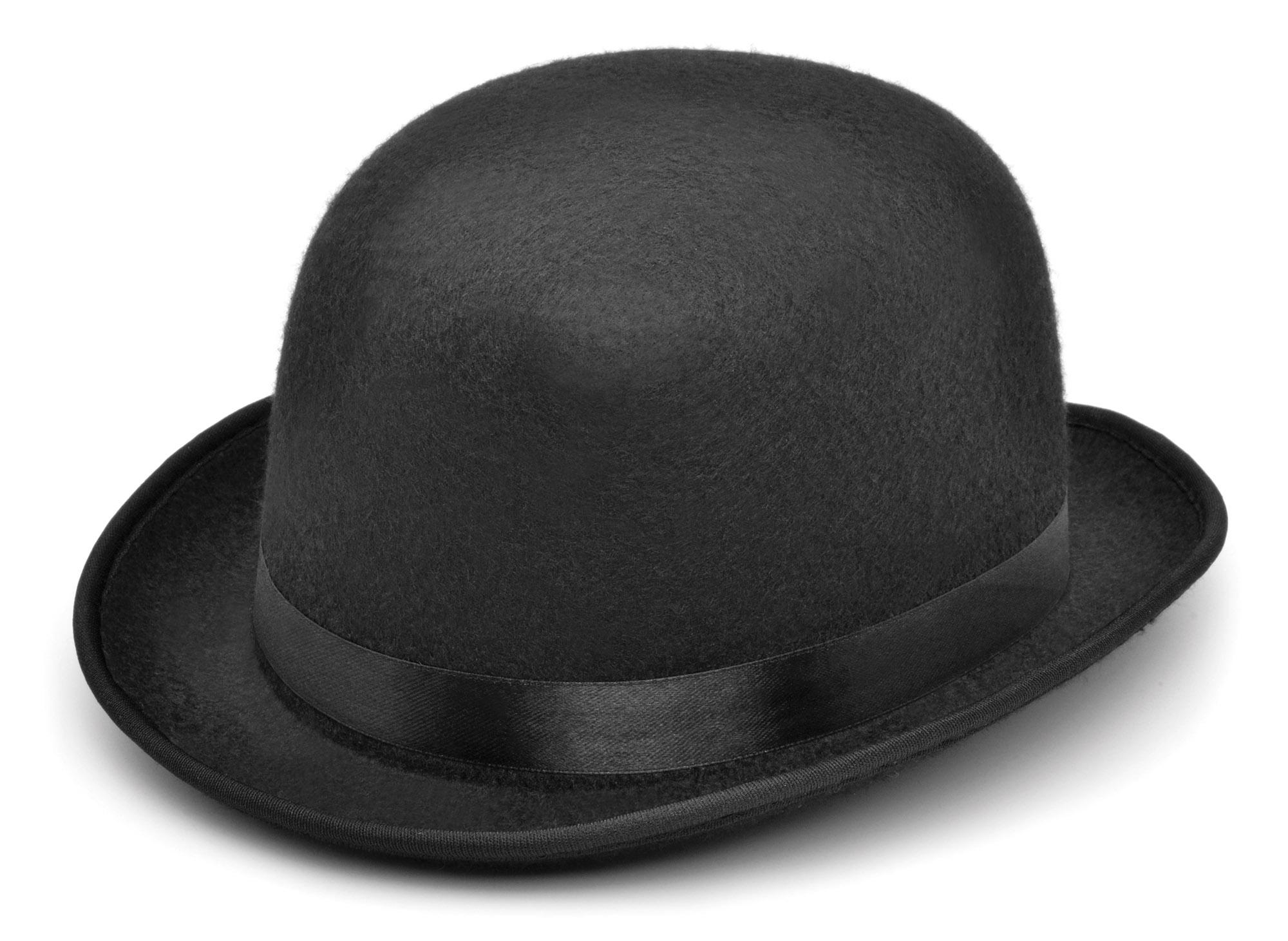 Details about Small Black Felt Bowler Hat 42e8d3f1534