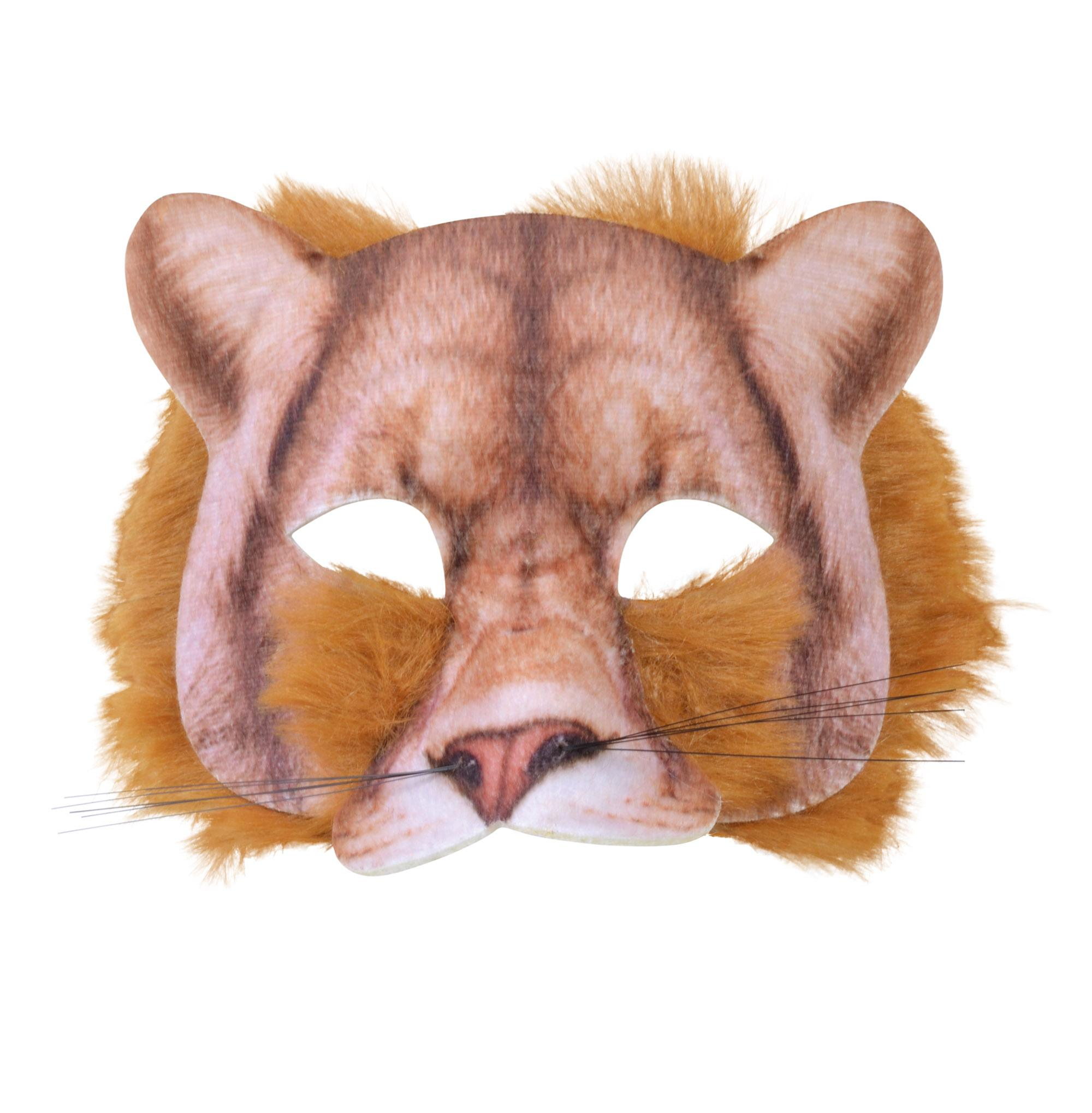 Lion Face Mask Realistic Fur